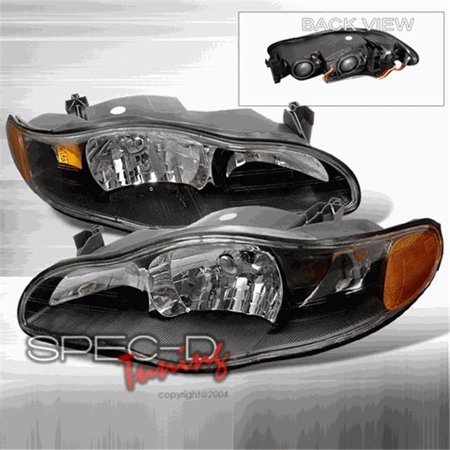 Rx 8 Specs - Spec-D Tuning 2LH-MONT00JM-KS Crystal Housing Headlights for 00 to 05 Chevrolet Monte, Black - 21 x 15 x 25 in.
