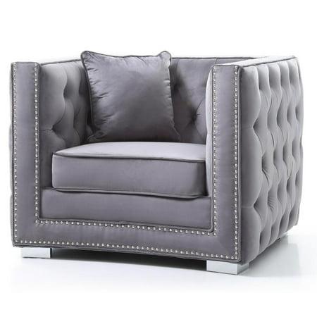 Glory Furniture Miami G800-C Chair, Gray ()