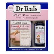 Dr Teal's Pink Himalayan Epsom Salt & Foaming Bath Oil Sampler Gift Set 2019 - Give The Gift of Restoration & Replenishment! - 14 oz Bag of Pink Himalayan Bath Salts & 3 oz Bottle of Foaming Bath Oil