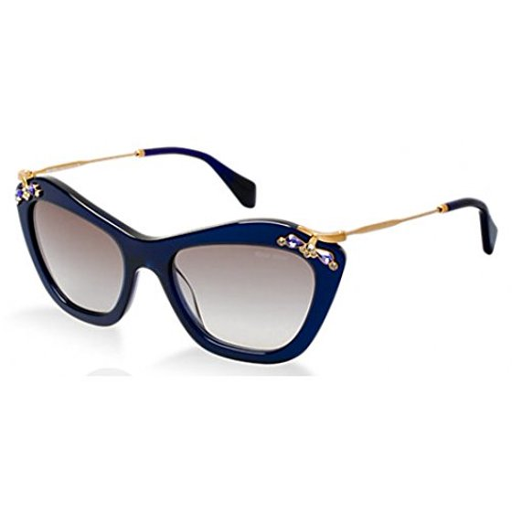 4a9e7d8b511 Miu Miu - Miu Miu MU03PS-0AX0A7-53 Blue Gold Cats Eyes Gray 53 mm Lens  Sunglasses NEW - Walmart.com