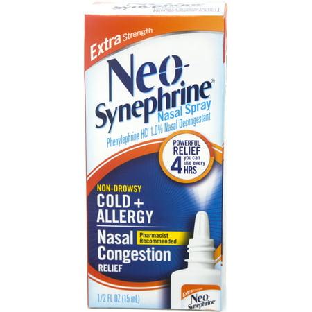 Neo-Synephrine Nasal Spray, Extra Strength Formula, 0.50 Ounces