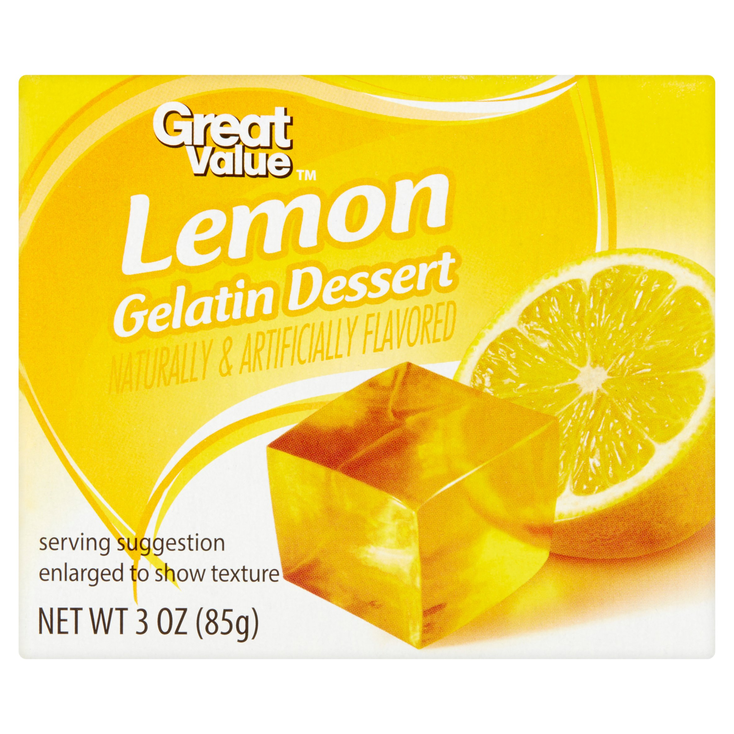 Great Value Lemon Gelatin Dessert, 3 oz by Wal-Mart Stores, Inc.