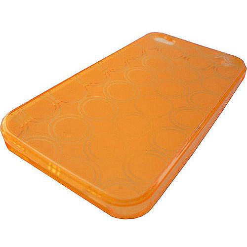 SnowFire Fresh Tracks Soft Case for iPhone 4, Tangerine Orange