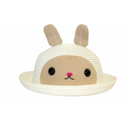 b7cd29a9d05c2 Sun Styles Foldable Crushable Lil Bunny Unisex Kid s Sun Hat - Pink - image  1 ...
