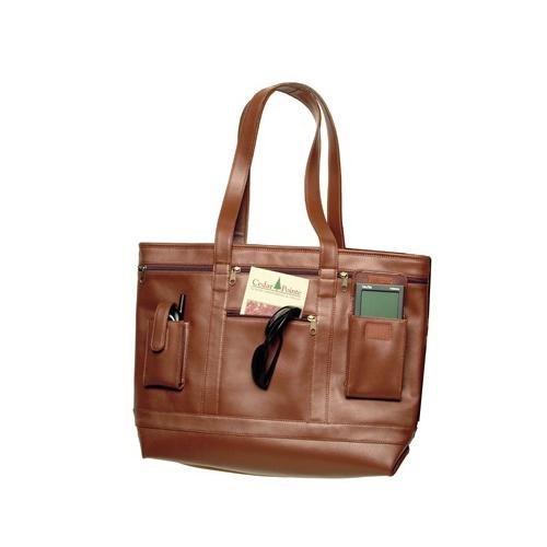 Royce Leather Business Tote RYC652TAN6