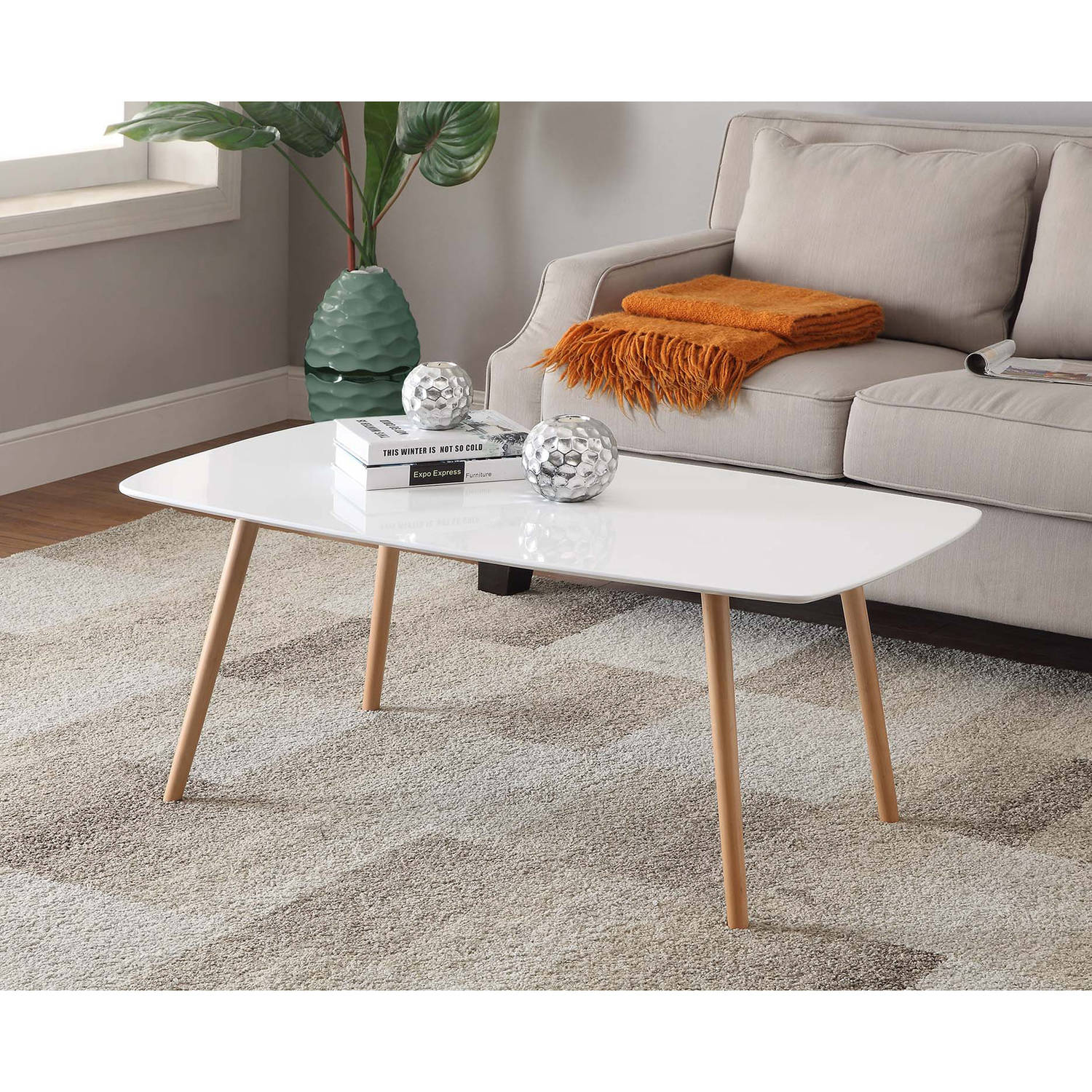 Convenience Concepts No Tools Oslo Coffee Table, Multiple Colors