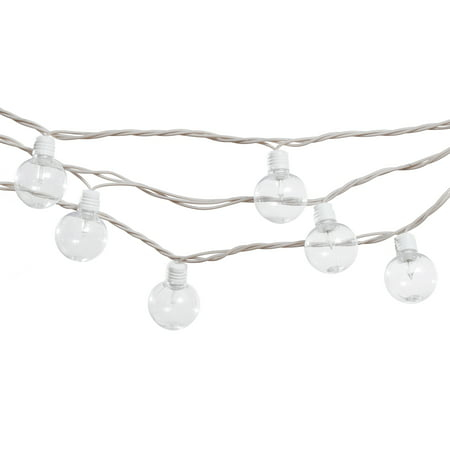 Mainstays 20-Count Indoor Outdoor Clear String Lights, White Cord ()