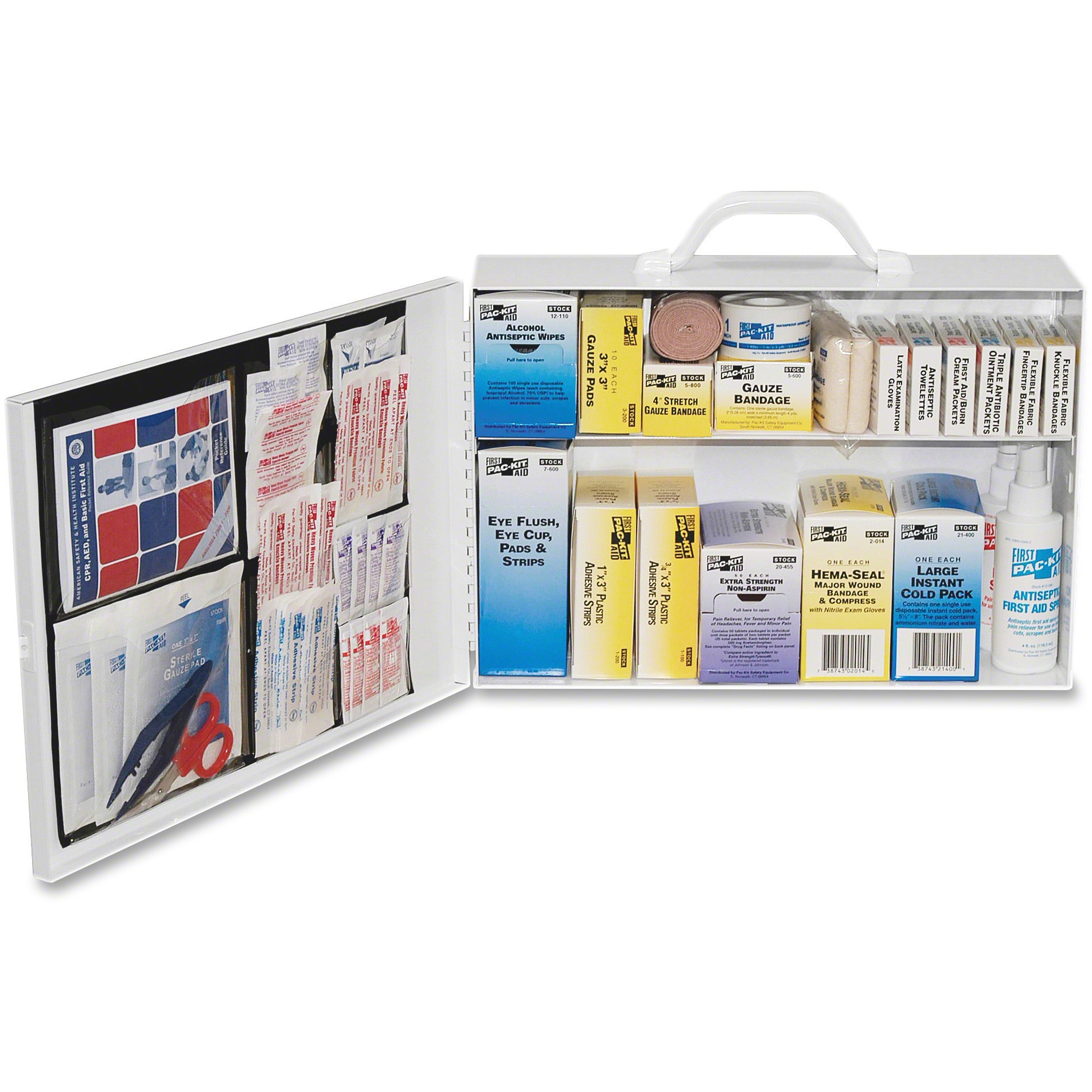 Pac-Kit, PKT6135, Safety Equipment 75-person First Aid Kit, 1 / Kit, White