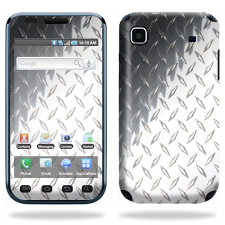 Skin Decal Wrap cover for Samsung Vibrant T959 BlkDiamPlate