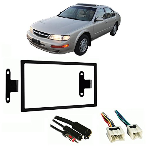 fits nissan maxima 1995 1999 double din stereo harness radio install dash kit, fits nissan maxima 1995 1999 double din stereo harness radio install Nissan Maxima On 20s