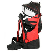 Deluxe Red Baby Toddler Backpack Cross Country Carrier Stand Child Kid Sun Shade