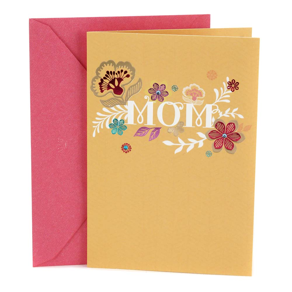 Hallmark, Flowers, Birthday Greeting Card, to Mother
