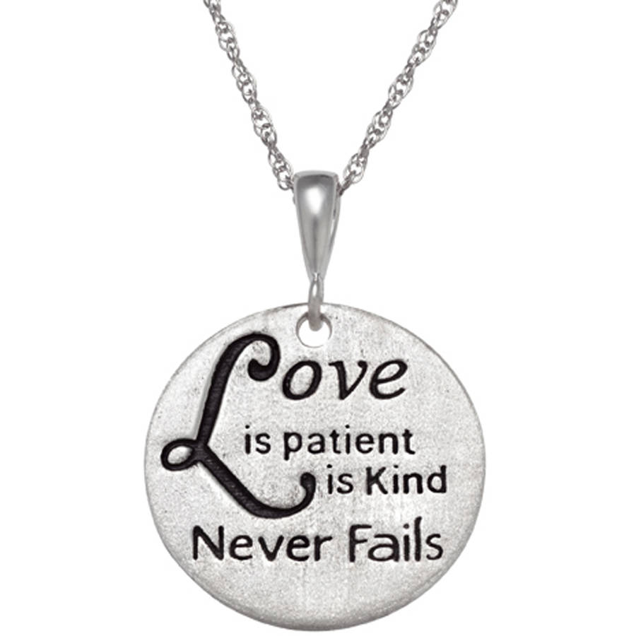 Personalized Sterling Silver Inspirational Engraved Necklace