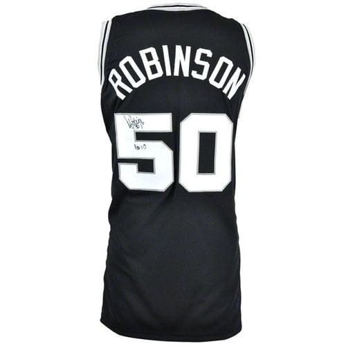 NBA - David Robinson Autographed Jersey | Details: San Antonio Spurs, Custom Jersey, Black