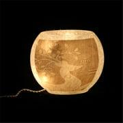 DecorFreak Lighted Oval Glass Jar - With Reindeer