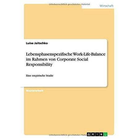 Lebensphasenspezifische Work-Life-Balance Im Rahmen Von Corporate Social Responsibility - image 1 de 1
