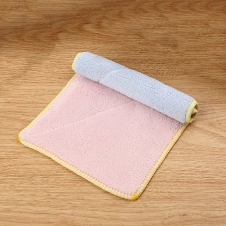 3 Pack Double-sided Microfiber Dish towels Thickening Cloth Dish Nonstick  Oil Absorbent Kitchen Towels
