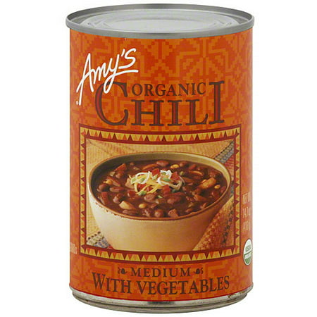 Amy's Medium Chili With Vegetables, 14.7 oz (Pack of 12) 10 Bean Soup
