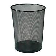 Office Depot Metro Mesh Wire Wastebasket, Black, 22351