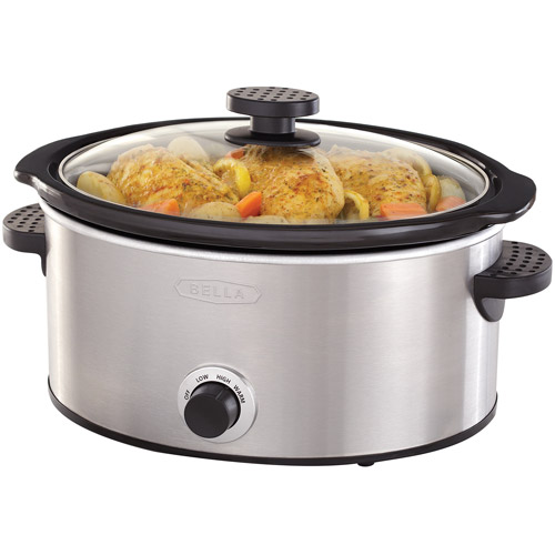 Sensio Bella 5-Quart Slow Cooker, Stainless Steel