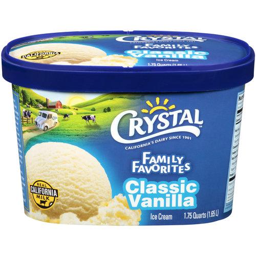 Crystal Family Favorites Classic Vanilla Ice Cream, 1.75 qt