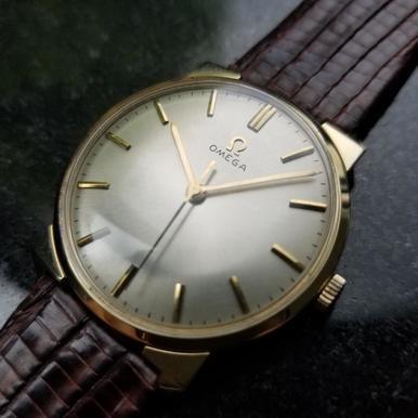 OMEGA Men's 14K Solid Gold Manual Hand-Wind cal.600 Dress Watch, c.1964 (Omega Watch Manual)