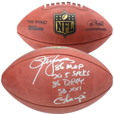 Lawrence Taylor New York Giants Autographed Duke Pro Football with Multiple Inscriptions - Limited Edition #12 of 12 - Fanatics Authentic Certified