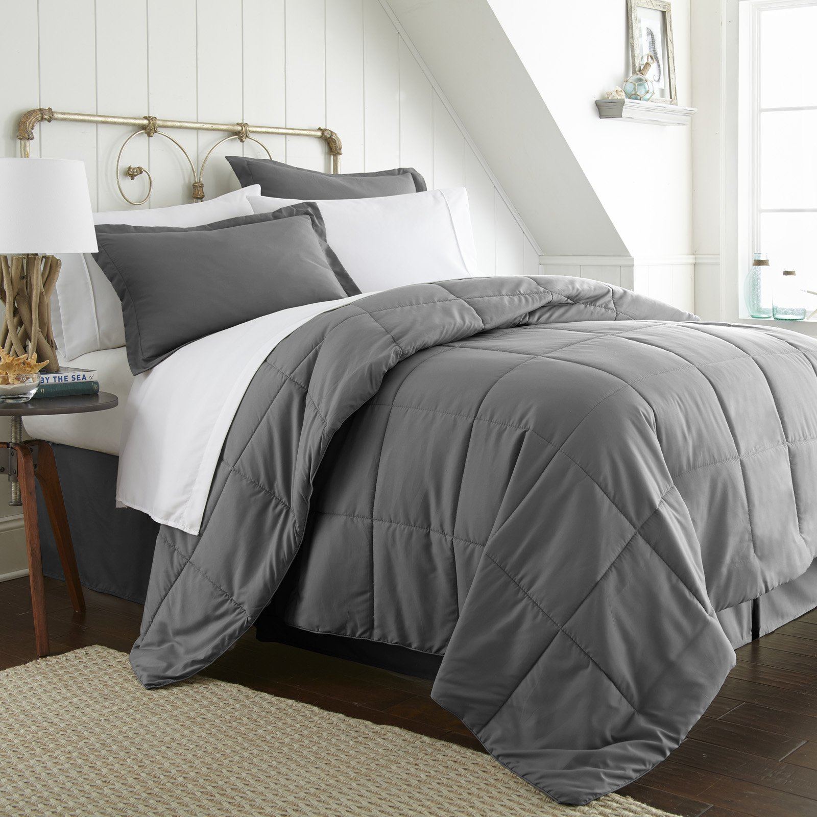 Solid Comforter Bed in a Bag by Noble Linens