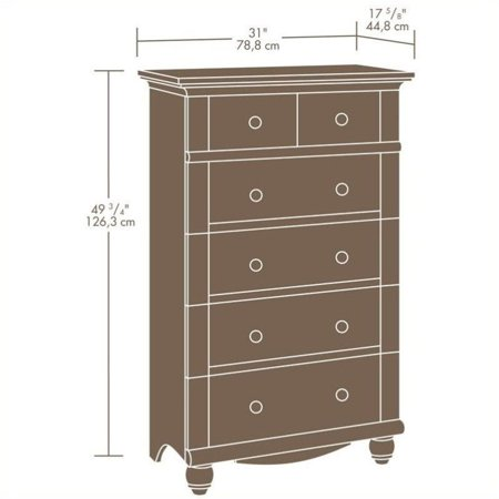 Sauder Harbor View 5-Drawer Chest in Antiqued White - image 1 de 3