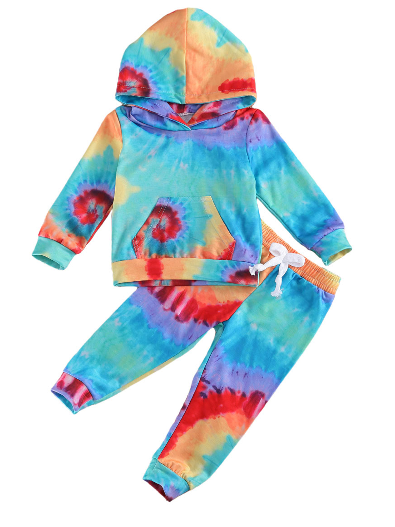 Toddler Baby Boys Girls Long Sleeve Hooded  Tracksuit Set Outfit Clothes Cute