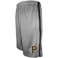 Pittsburgh Pirates Majestic Big & Tall Team Shorts - Heathered Gray