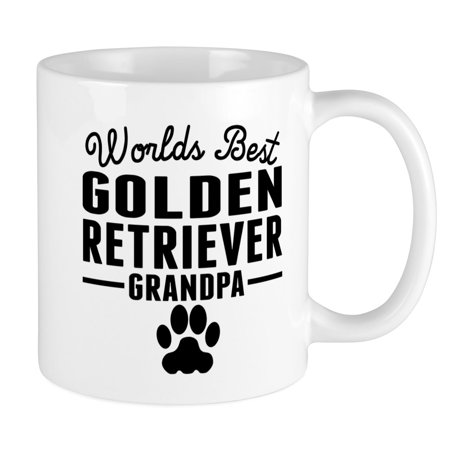 CafePress - Worlds Best Golden Retriever Grandpa Mugs - Unique Coffee Mug, Coffee Cup (Best Looking Golden Retriever)