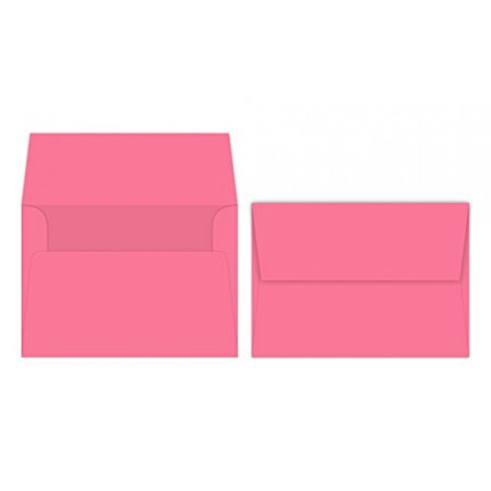 A7 Bright Color Envelopes - 5 1/4 x 7 1/4 Inches - Perfect For 5x7 Photos, DIY Arts And Crafts Cards - For Professional and Homemade Projects - Value Pack of 50 Envelopes (Pulsar Pink)