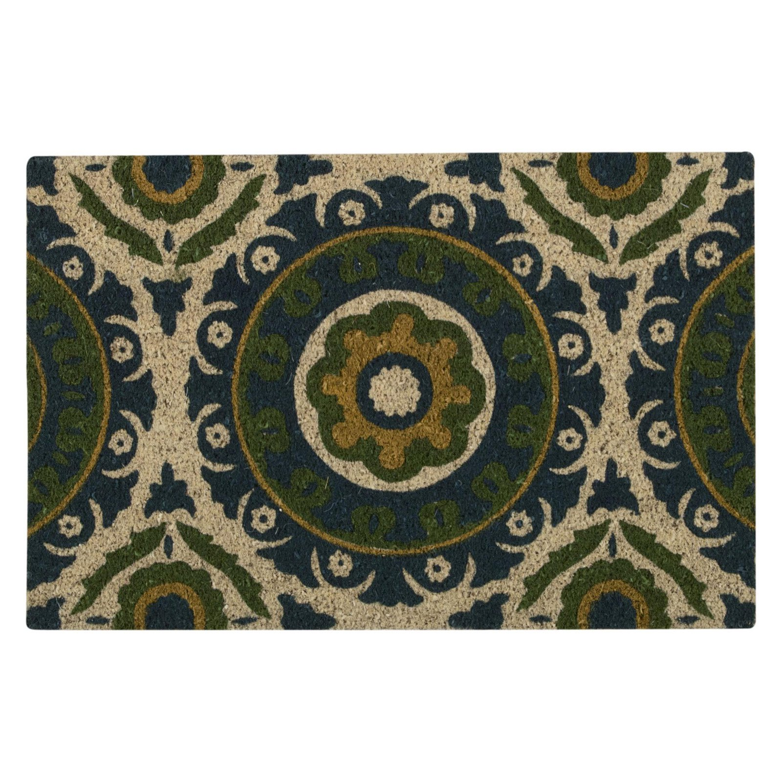 "Waverly Greetings ""Solar Flair"" Blue Green Doormat by Nourison"