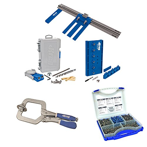 Kreg DIYKIT DIY Project Kit with Pocket-Hole Screw Kit and Face Clamp