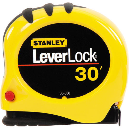 Stanley 30' Leverlock Tape Measure, 30-830W