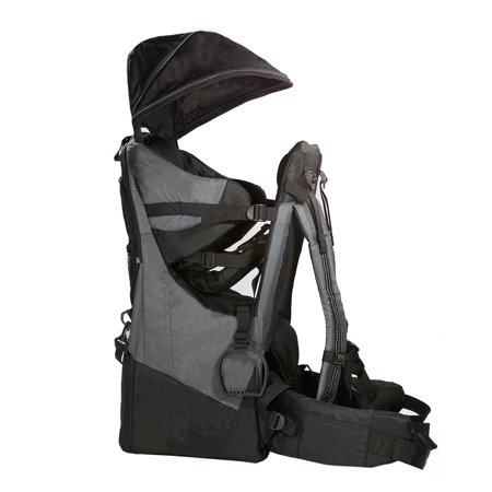 Clevr Deluxe Baby Backpack Hiking Cross Country Lightweight Carrier W  Stand And Sun Shade Visor  Grey