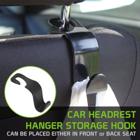 Universal Car Seat Headrest Hanger Storage Hook, Durable Backseat Headrest Hanger Storage For Handbags, Purses, Coats, and Grocery Bags