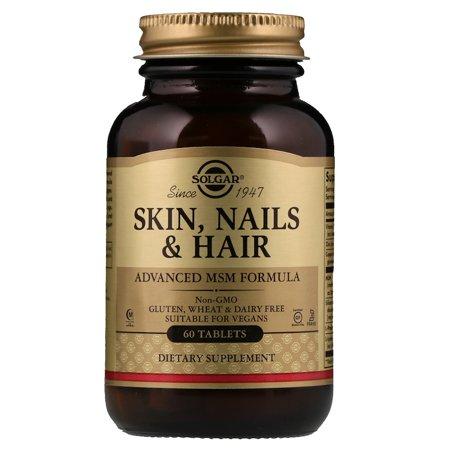 Solgar Skin Nails (Solgar, Skin, Nails & Hair, Advanced MSM Formula, 60 Tablets(pack of 1))