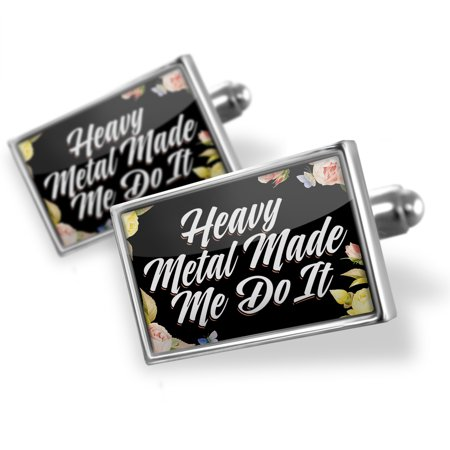 Cufflinks Floral Border Heavy Metal Made Me Do It - NEONBLOND