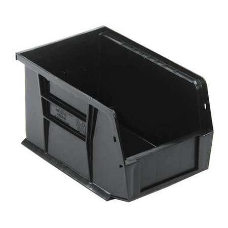 Quantum Storage Systems 50 lb Capacity, Hang and Stack Bin, Black QUS221BK