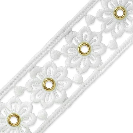 (Expo 5 yards of Elaine Summer's Meadow Eyelet Lace Trim 1 1/2