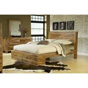Modus Furniture Atria Queen Panel Bed, Natural Sheesham