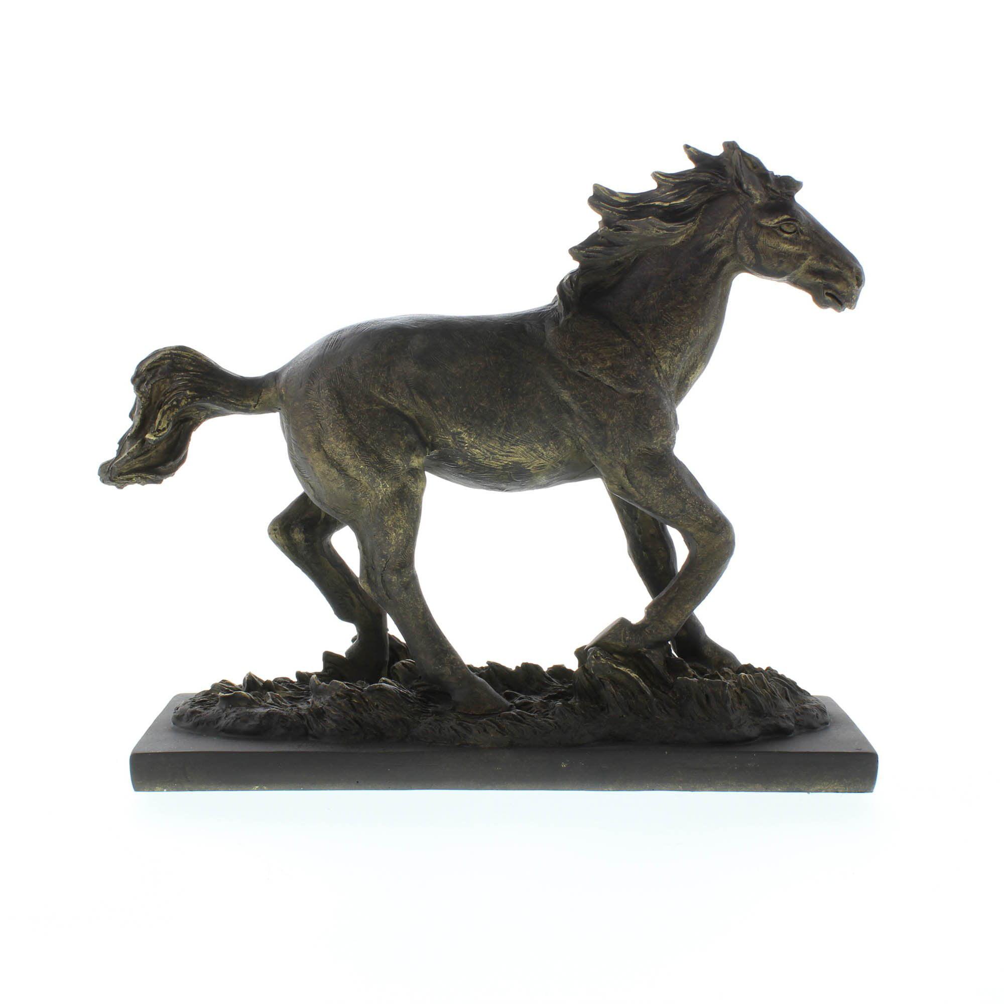 Horse Statue Stallion Black Race Horse Sculpture Decor Desk Art Walmart Com Walmart Com