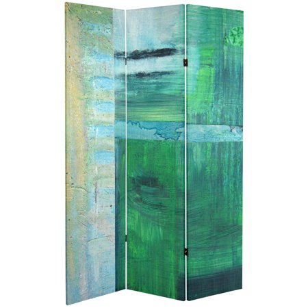 6 ft. Tall Double Sided Ravello Canvas Room Divider ()
