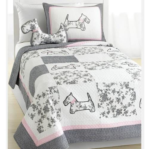 Cozy Line Home Fashion Scottie Pup Quilt Set