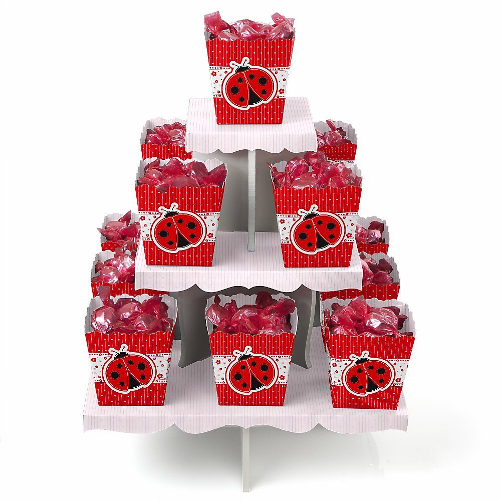 Modern Ladybug - Candy Stand & 13 Party Candy Boxes
