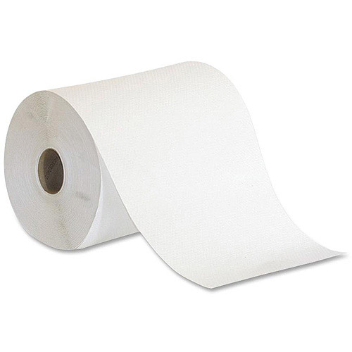 Georgia Pacific Preference Hardwound Non-Perforated Paper Towel Rolls, White, 12 rolls