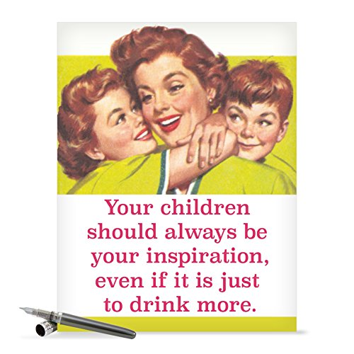 J0228 Jumbo Funny Mother's Day Card: Drink More, Extra Large Greeting Card With Envelope - NobleWorks