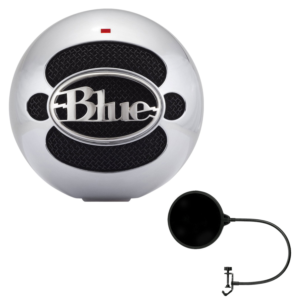 Blue Microphones Snowball USB Microphone Alluminum (SNOWBALLALUMINUM) with Pop Shield... by Blue Microphones